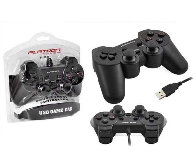 PLATOON PL-2596 PC ANALOG DUAL SHOCK VAKUMLU GAME PAD