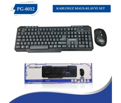 Pg-8012 Kablosuz Wireless Keyboard Klavye Mouse Set