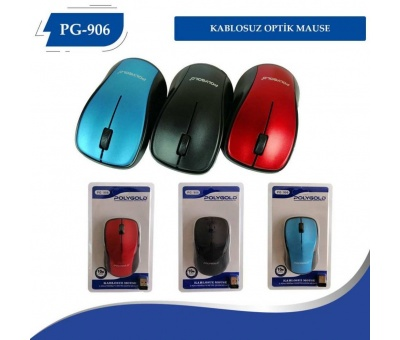 PolyGold PG-906 2.4 Ghz 1600 Dpi Renkli Kablosuz Wireless Mouse