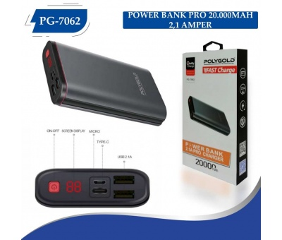 PG-7062 PRO POWER BANK 20000MAH (2,1 QUALTY ŞARZ)