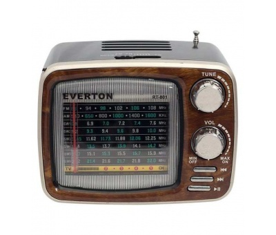 Everton RT-801 Bluetooth, Nostalji ,Şarjlı 6-8 Band Radyo ,usb, sd ,Aux, mp3 player
