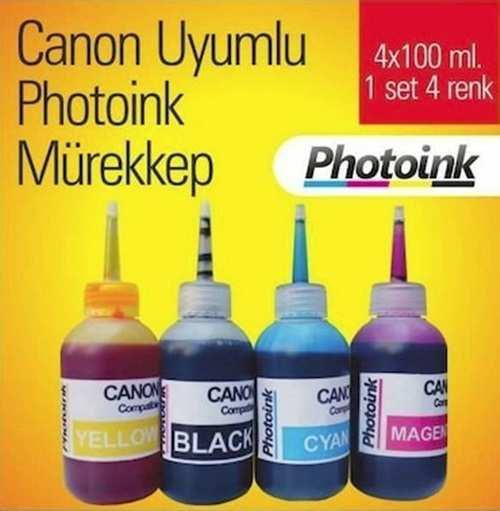 Canon Yazıcı İçin Uyumlu Mürekkep Seti 4X100ml