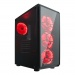 Gaming Turbo X 4x Single Color Fan Red 300W Oyuncu Kasası