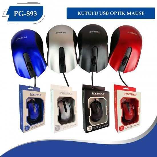 PG-893 KUTULU USB OPTİK MOUSE
