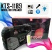 KTS-1189 IŞIKLI BLUETOOTH HOPARLÖR SPEAKER USB-TF-RADYO